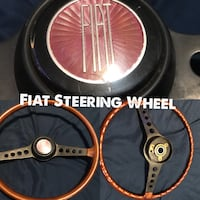 Fiat wheel -  This listing is for a Fiat 124 Spider simulated wood-grain steering wheel with horn pad. I believe this steering wheel was removed from a 1978 Fiat 124 Spider, but should fit Fiat Spider models '65 thru '73. This steering wheel is in good co Toronto, M6H 3W3