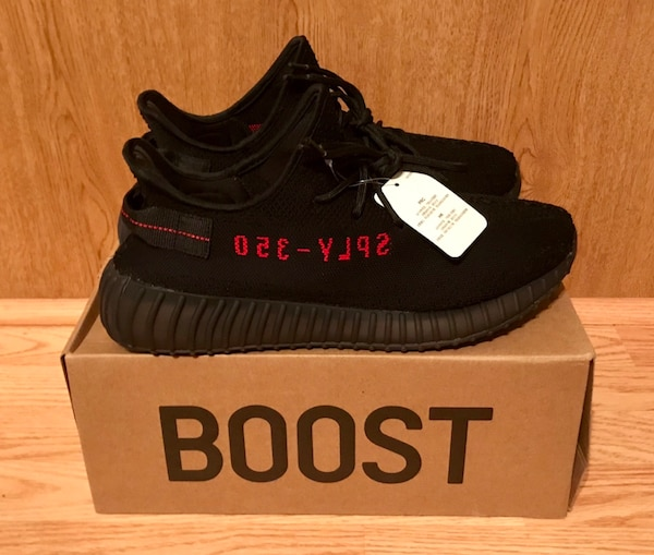 3d2980418 Used Adidas Yeezy Boost 350 V2 Black Red Men s Size 11.5 for sale in ...
