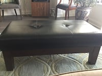 black leather and wood bench/coffee table Toronto, M9A 0E2