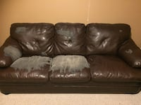 Bonded leather couch and chair Spruce Grove, T7X 4L4