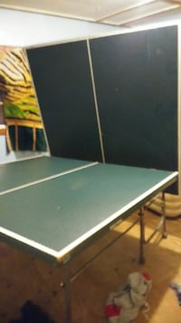black and white wooden ping pong table