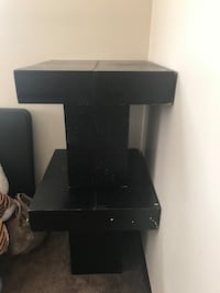 black wooden TV stand with mount Atlanta, 30308