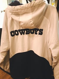 White and blue Dallas Cowboys zip-up hoodie