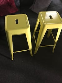 Brand New Yellow Metal Stools Cambridge, N3C 2V3