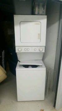 white stackable washer and dryer Toronto, M9W 1W1