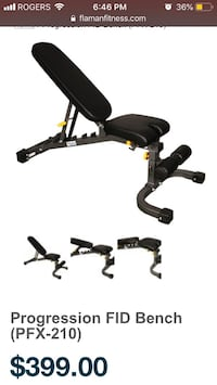 Progression FID Adjustable Bench from Flaman Fitness Maple Ridge, V2X 9V3