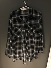 Never worn Shannon Passero Black and White checkered button up shirt  Fonthill, L0S 1E4