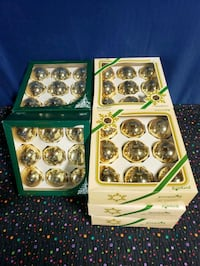 Lot of 10 Boxes, Decorative Ornaments, Glass, North Charleston, 29405