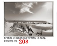 Bronze Beach picture ready to hang!