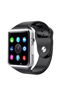 New smart watch black works with Samsung iPhone and lg