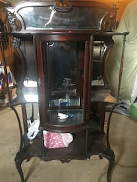 Very old wooden hutch/curio Plum