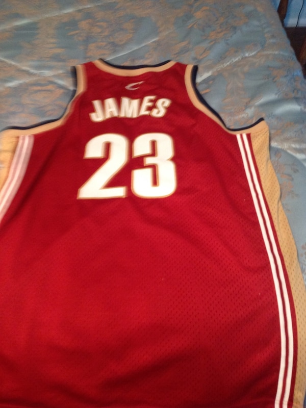 Red and brown basketball jersey