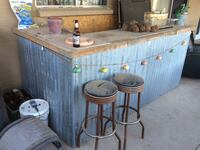 Custom made bar  just needs top finished. In tile or granite or paint