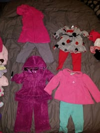 Lot of 18 month old baby girl children's outfits clothing