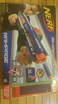 black and red and blue Nerf blaster box Bristow, 20136