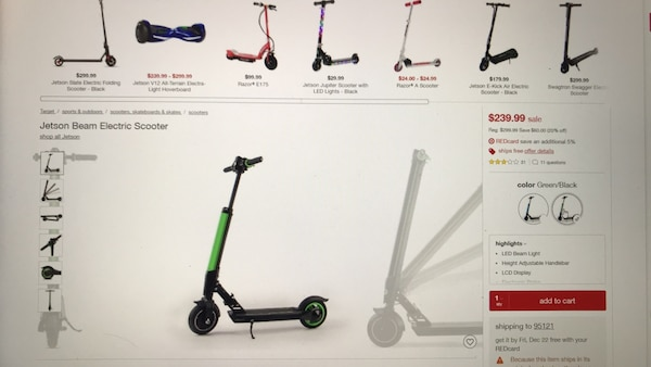Jetson Beam Scooter New Images Beam