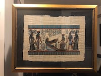 Handmade Egyptian Painting with Frame Markham, L6B 1N4
