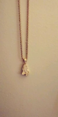 Praying Hands Charm and Necklace