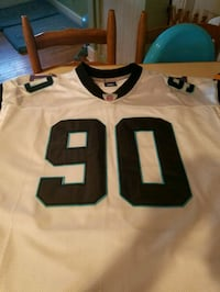 white and black number 90 NFL jersey Fairhaven, 02719