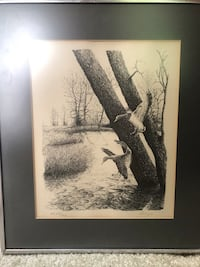 Ducks Artwork, signed and numbered by artist Charlotte, 28277