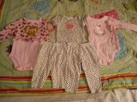 New Girls 3-6 & 6-9 Month Onsies/Outfit