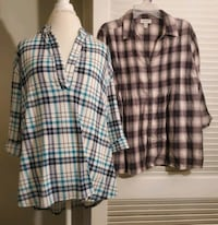 18/20 Two Plaid Blouses