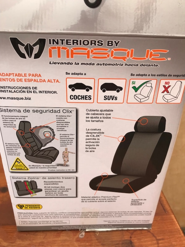Tremendous Used Black And Gray Interior Masque Seat Covers For Sale In Creativecarmelina Interior Chair Design Creativecarmelinacom