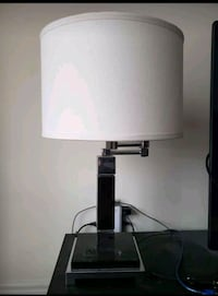 Hotel style boutique chic modern lamp with built in plug outlet port Brampton, L6R
