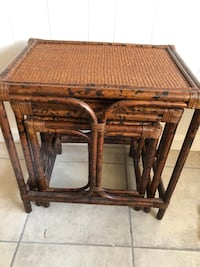 Bamboo Nesting End Table set
