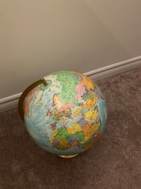 World globe  Pickering, L1X 0E1