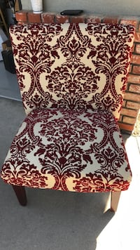 White and red floral padded chair Bakersfield, 93308