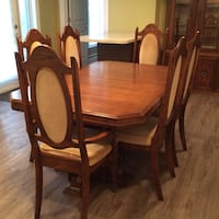 Oak dining room set , T8C 1C5