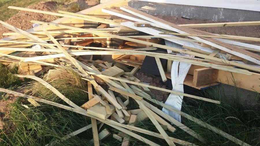 Scrap wood for camping or link in