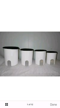 brand new one touch reminder canister set