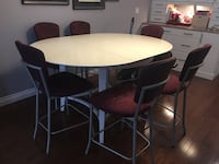 white and black wooden dining table set Edmonton, T6R 3S8