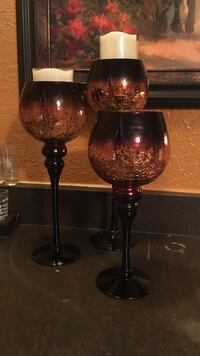 Heavy duty glass candle holders