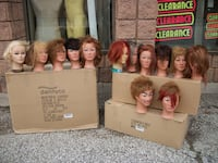 Mannequin heads with human hair Toronto, M3J 2X7