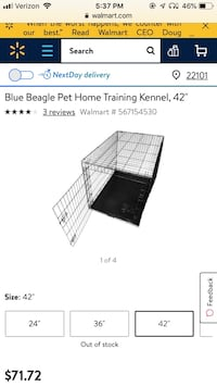Collapsible Pet Kennel 42 inches Falls Church, 22043