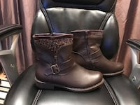 Bling Short Brown Boot Size 10