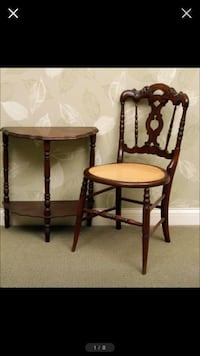 Vintage Side Table and Antique Chair  Avon, 46123
