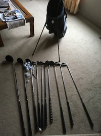 Golf clubs,bags and balls