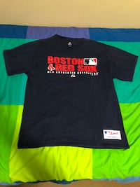 black and red Boston Red Sox-printed crew-neck t-shirt Richmond, V7A 1J4