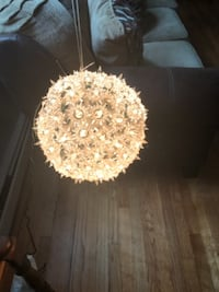 100 Lights Super Sphere! RED LIGHTS! WORKS GREAT! 6 INCHES! East Northport
