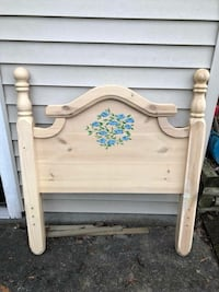 white wooden headboard and footboard 3740 km