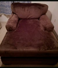 Microfiber Chocolate Brown Chaise Lounge Chair Mulberry, 33860