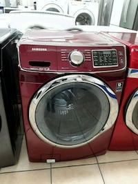 red Samsung front-load clothes washer South Gate