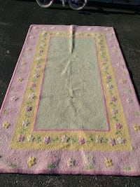 pink and green floral area rug Skokie, 60076