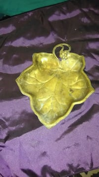 Copper leaf candy bowl Lubbock