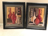 Wooden framed picture, set of two Aurora, L4G 6P6
