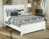 Bostwick Shoals White Queen Storage Platform Bed   Houston